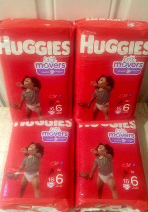 HuGGies Little Movers Size 6 for Sale in Phoenix, AZ