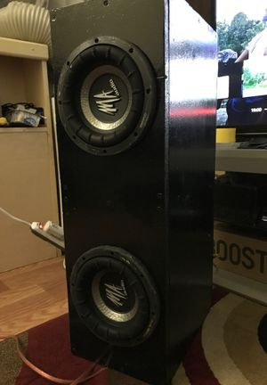 MA Audio two 8'nch sub w/costum made solid box. Bumps hard for Sale in Artesia, CA