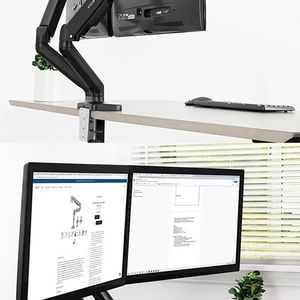 """(NEW) $35 VIVO (V002O) Fully Adjustable Dual Monitor Stand, Desk Mount, Screens up to 27"""" for Sale in South El Monte, CA"""