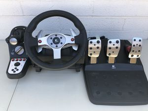 Logitech G25 Racing Wheel, Shifter, Pedals for Sale in Phoenix, AZ