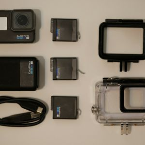 Gopro Hero 6 Black With Extra Batteries, Dual Charger, Diving Case And Hard Case for Sale in Plymouth, MI