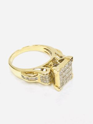 14K Solid Yellow Gold Ring with a total of 1.72 ct of real Diamonds. Weight 6.6g - Size 8 for Sale in Miami, FL