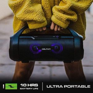 Dual Portable Bluetooth Waterproof Tube Speaker with HD Sound and Bass, High Power 30W, Includes FM Radio, USB/SD MP3, AUX Input for Sale in Lynwood, CA
