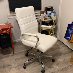Office Chair Leather Chrome for Sale in West Covina, CA