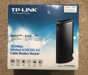 Modem Router, TP-LINK TC-W7960 for Sale in Dallas, TX