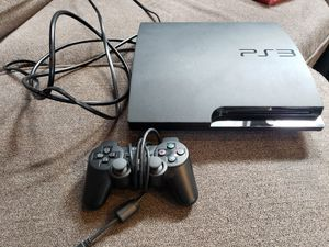 Ps3 320 gb black slim console with 19 games for Sale in Everett, WA
