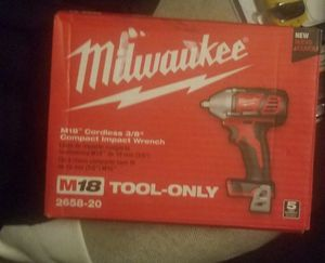 Milwaukee 3/8ths impact wrench for Sale in Las Vegas, NV