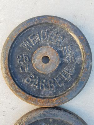 Weider Plates. Both For $50 Vintage Iron 1980's. 25lbs Each. for Sale in Phoenix, AZ