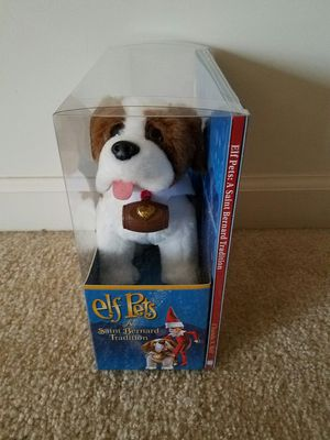 Elf on the Shelf St.Bernard Tradition - dog and story book. $15 price firm for Sale in Rockville, MD