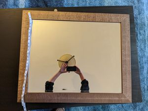Wall Mirror 27x33 with decorative brassy frame for Sale in Portland, OR