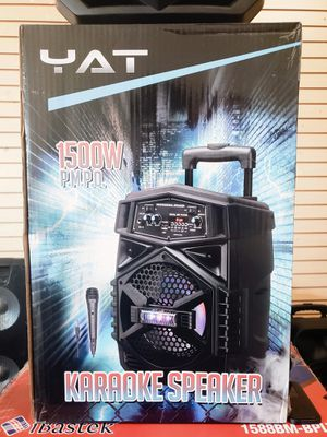 Bosina Nueva Bluetooth !!! LED Lights Karaoke !!! Rechargeable 🔋 +++ Usb / Aux / Micro SD Card for Sale in Los Angeles, CA
