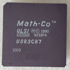 Math Co FPU US83C87 Ulsi Systems 25MHz Ceramic PGA 68pins Gold Plated Vtg 1990 for Sale in Harrisonburg, VA