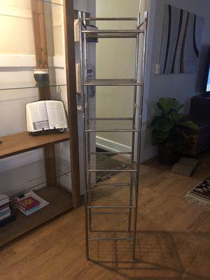 Vintage metal 6 tier rack shelf shelves storage unit for Sale in Anaheim, CA