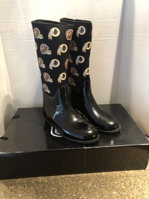 Washington Redskins Women's Rain Boots Size 10 Brand New With Box for Sale in Manassas, VA