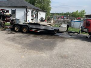 18 ft steel deck trailer with winch and more for Sale in Humble, TX