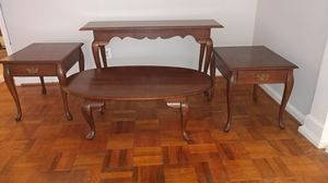 Living room tables set: 1 console, 2 side, and 1 coffee for Sale in Bethesda, MD