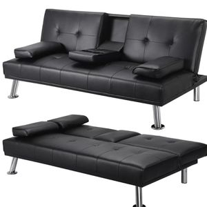 Leather Futon Couch for Sale in Long Beach, CA