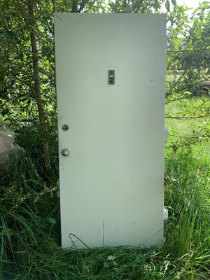 "36x79""Exterior Metal Door Good for a shap, shed ,or greenhouse for Sale in Portland, OR"