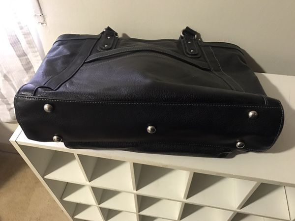 Real Leather Business Tote