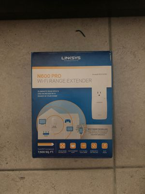WiFi Range Extender (Linksys N600 Pro Dual-Band) for Sale in Plantation, FL