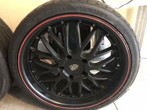 """Porsche 19"""" Cayman or Boxter Axis Rims and Falken Rotation tires for Sale in Devon, PA"""