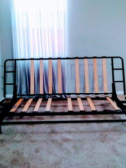 Metal Futon Frame w/ Wooden Slats for Sale in Ontario,  CA
