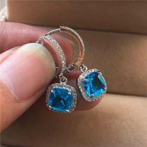 Cute Blue Stoned Silver Earrings for Sale in Dallas, TX