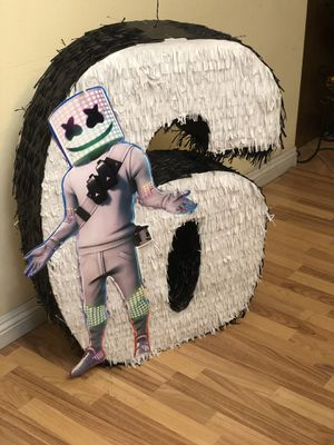 Dj Marshmellow Number Six Sixth Birthday Pinata for Sale in Ontario, CA