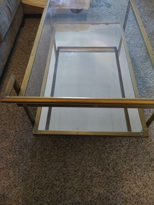 Antique style brass mirror table for Sale in Los Angeles, CA