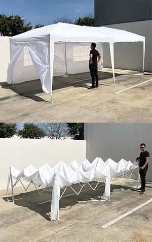 New $170 Easy Popup 10x20 ft EZ Pop Up Canopy w/ 6 Side Walls, Carrying Bag, White for Sale in South El Monte, CA