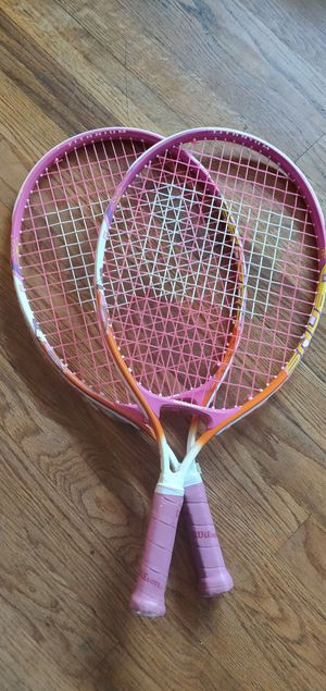 Set of Serena and Venus Williams Girl Tennis Rackets for Sale in Portland, OR