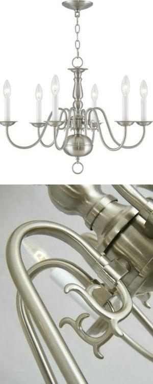 Brand New in Box Livex Lighting Williamsburg 6 Light Brushed Nickel Traditional Chandelier for Sale in Boca Raton, FL
