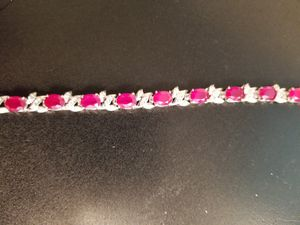 Garnet and Cubic Zirconia Ladies Bracelet for Sale in Tacoma, WA