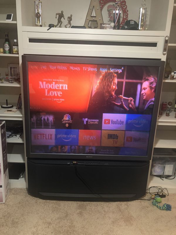 "Old sony big 60"" screen tv."