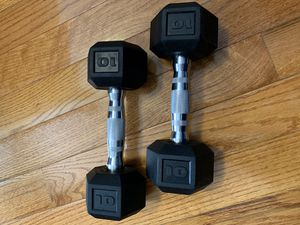 Barbell Coated Hex Dumbbells, Set of 2 10lbs for Sale in Brooklyn, NY