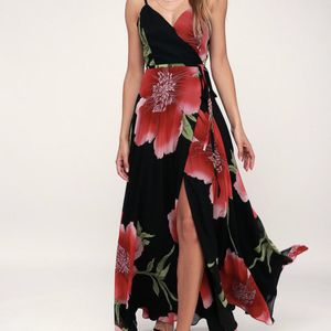 Blossoming Belle Black Floral Print Maxi Wrap Dress for Sale in San Jose, CA