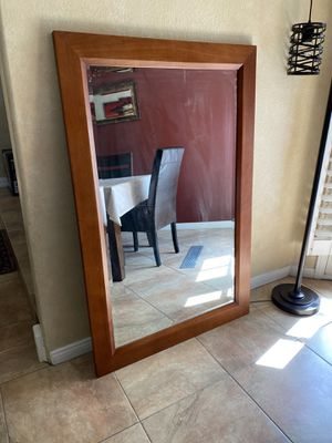 Wood Framed Large Mirror 55x36 for Sale in Upland, CA