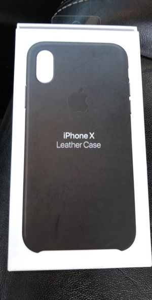 iPhone X Apple leather case for Sale in San Diego, CA