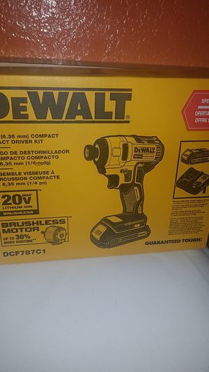 DEWALT BRUSHLESS 20V LITHIUM ION COMPACT IMPACT DRIVER KIT for Sale in Fountain Valley, CA