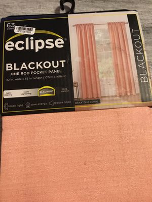Eclipse Blackout curtain panels 63in Long for Sale in Lancaster, PA