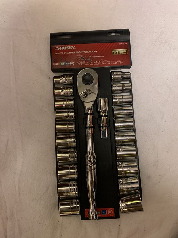 Husky 22 Pieces Drive socket wrench set
