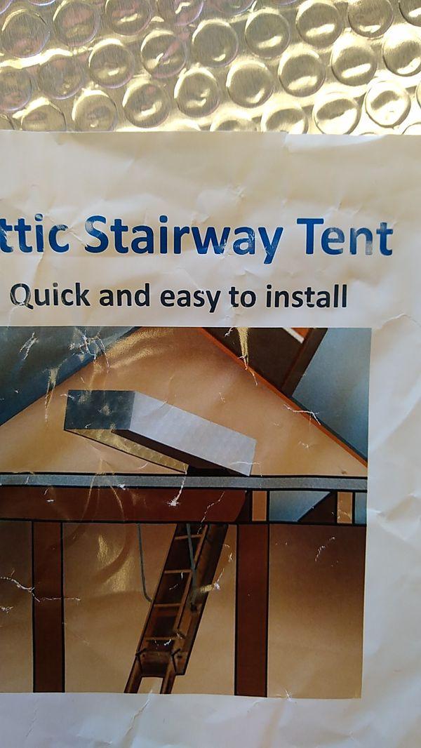 Attic stairway tent