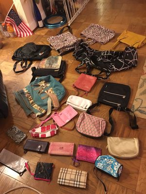 Various women's purses, yoga bag, messenger totes, and wallets for Sale in Bethesda, MD