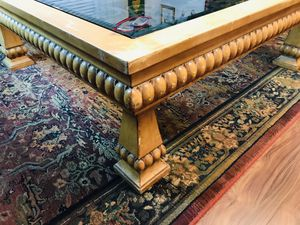 Glass/Wood/Wrought Iron 4feet 10 inch Square Coffee TableMOVING SALE for Sale in Seattle, WA