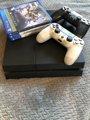 PlayStation 4 w/ 2 controllers and games for Sale in Fairfield, CT