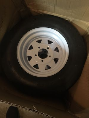 """13 """" rim and trailer tires set of 2 for Sale in Bakersfield, CA"""