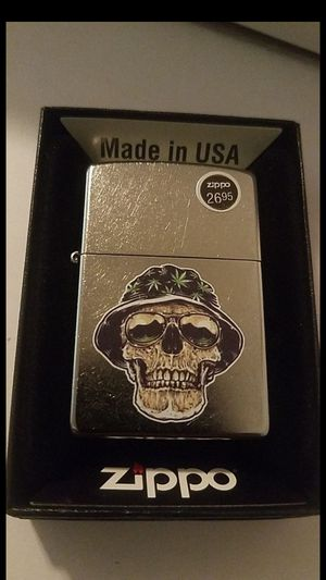 Zippo Lighter: Skull with Weed Leaf Hat for Sale in Whittier, CA