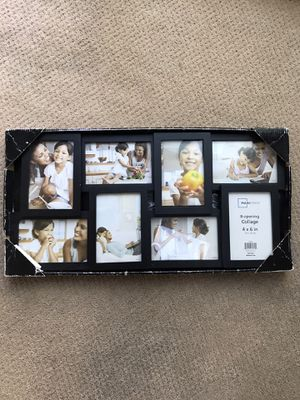 8-opening collage frame 4x6 in each for Sale in Wexford, PA
