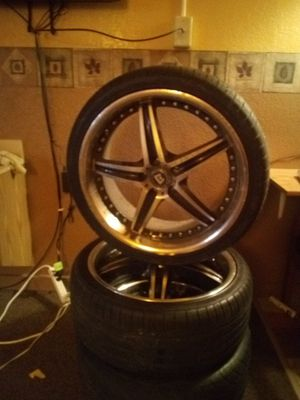"""set of 20"""" rims and tires for Sale in Sioux Falls, SD"""