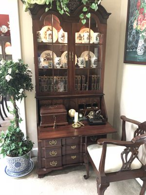 Solid mahogany secretary desk for Sale in Milford, MI